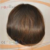 Parrucca sintetica Mixed di vendita poco costosa delle donne dei capelli umani di Wefted di stile