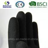 Enduit de nitriles, gants de travail de sûreté de fini de Sandy (SL-NS112)