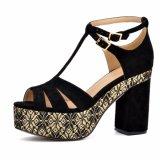 (Donna-в) сандалии платформы женщин высокой пятки типа способа толщиные