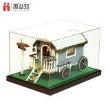 소형 장면 나무로 되는 장난감 인형 집