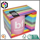 Taza de la caja de embalaje ondulado brillante colorido con el titular