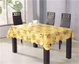 工場フランネルの裏付けが付いている卸し売り安く、強いPVCによって印刷されるテーブルクロス