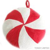 Accesorios para mascotas de Navidad bola círculo de peluche de animales de compañía de sonidos juguetes de peluche