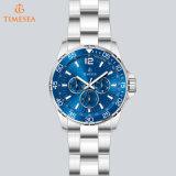 파란 색깔 Stailess 강철 해저 시계, 빛난 일 날짜 시계 24 시간 72385