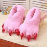 Wrap Plush Monster Claw Indoor Slippers