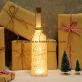 La botella LED de la luz de las estrellas de la Navidad enciende para arriba la decoración con el mensaje para el amor