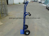 4개의 바퀴 압축 공기를 넣은 타이어를 가진 공장 가격 250kg 손 트롤리
