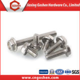 Aço sem sementes Hex Flange Head Machine Screw M4