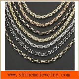 jóia masculina régia de venda quente da colar 316L de aço Titanium bizantina (SSNL2650)