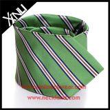Gravata de seda tecida do fabricante 100% de China listra Handmade