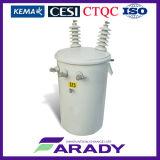33kv 200kVA 400kVA 500kVA no tipo transformador montado Pólo do petróleo da venda da corrente eléctrica