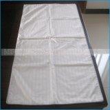 Coperchio bianco 100% del cuscino della cassa del cuscino della banda del raso dell'hotel di tocco morbido del cotone