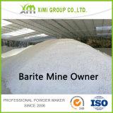 O proprietário de mina de barite produz o sulfato de bário Baso4
