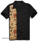 Randello americano maschio della nuova di disegni della novità stampa del tatuaggio più le camice di formato