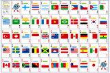 Cartões de jogo da bandeira nacional/cartões de jogo personalizados