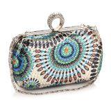 Sacchetto di sera Handmade della signora Diamond Crystal della donna della borsa della frizione di modo