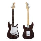Тип электрическая гитара Strato тела Zebrawood OEM оптовый твердый