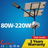 IP65 6000k는 백색 80W-210W LED 태양 가로등을 냉각한다