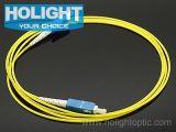 Het Optische Patchcord Sc aan Sc Simplex van de vezel 3.0mm Gele LSZH