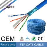 Câble de réseau du chat 6 de vente en gros de câble LAN de Sipu CAT6 SFTP