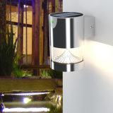 Luz al aire libre de la pared del jardín del acero inoxidable de la energía solar LED