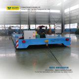 Vehículo motorizado carretilla plana de la plataforma del carril del tambor de cable