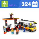 Il bus di plastica dei bambini 324PCS ostruisce il giocattolo