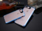 Qualität transparentes PC+TPU verdünnen beweglichen Deckel-Kasten für das Plus iPhone 6/7