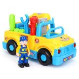 Brinquedo educacional plástico do bebê do carro da ferramenta do B/O dos miúdos