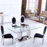 Jogos de vidro da tabela de jantar da venda quente para 6 Seater