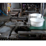 Sigillamento di riempimento determinato pneumatico della tazza lineare e macchina di coperchiamento