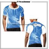 Sports secs en gros d'usure de compresse d'ajustement exécutant T-shirts de coton d'hommes les plus défunts pour les hommes