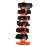 Étalage acrylique orange de lunettes de soleil de Roating
