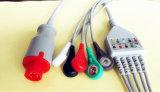 Кабель Leadwire ECG кнопки 5 Bionet 8pin Aha