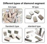Het Segment van de Diamant van Arix voor het Concrete Knipsel van het Blad van de Zaag van de Diamant