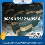 Fil galvanisé vert de fer enduit par PVC pour le treillis métallique de frontière de sécurité