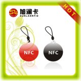 Tag Epoxy do PVC do anti metal NFC do ISO 14443A com a microplaqueta de 1k S50