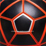 Negro del club del alto grado de formación personalizado del balón de fútbol