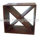 Experto de madera del estante del vino con 24 accesorios de madera del vino del cubo del vino de la botella