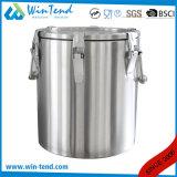 Heet Economisch Type 6 van Roestvrij staal van de Verkoop Vat van het Restaurant van de Isolatie van de Gesp het Draagbare Schuimende voor Vervoer