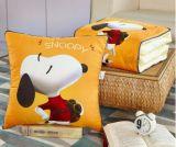 多機能の綿のリネンクッションの投球枕毛布の屋外毛布