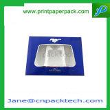 Rectángulo de empaquetado cosmético de la cartulina del PVC de regalo de los rectángulos del perfume de papel de encargo de la manera