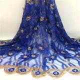 花嫁のボイルのウェディングドレスの刺繍のテュルのフランスのレースファブリック水溶性のアフリカの純ギピールレースの花のアップリケ