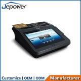 세륨 FCC Bis EMV는 인쇄 기계를 가진 1개의 NFC 3G 지불 끝 인조 인간 POS에서 모두를 증명했다