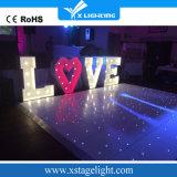 Diodo emissor de luz estrelado de vidro Dance Floor Starlit do Twinkling do Sell 2016 quente para a luz do banquete de casamento