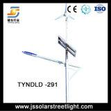 vento do diodo emissor de luz de 9m mais a luz de rua híbrida solar