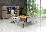Tabella di legno dell'ufficio dello scrittorio d'acciaio del piedino del metallo di colore della quercia (HX-AD8022)