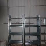 Aufbau verwendet, Rahmen-Baugerüst unterstützend