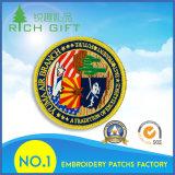 Distintivo della zona del ricamo tessuto modo su ordinazione di marchio dei militari 3D per vestiti
