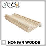 Marco de puerta de madera de pino que moldea blanco